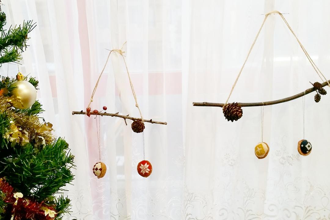 こぎん刺しのあるクリスマス