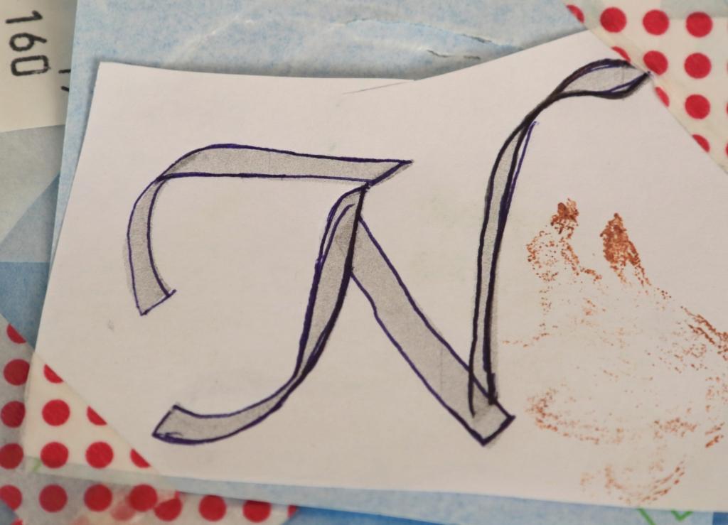 文字の型紙-文字で魅せるオリジナリティのあるギフト~カリグラフィー