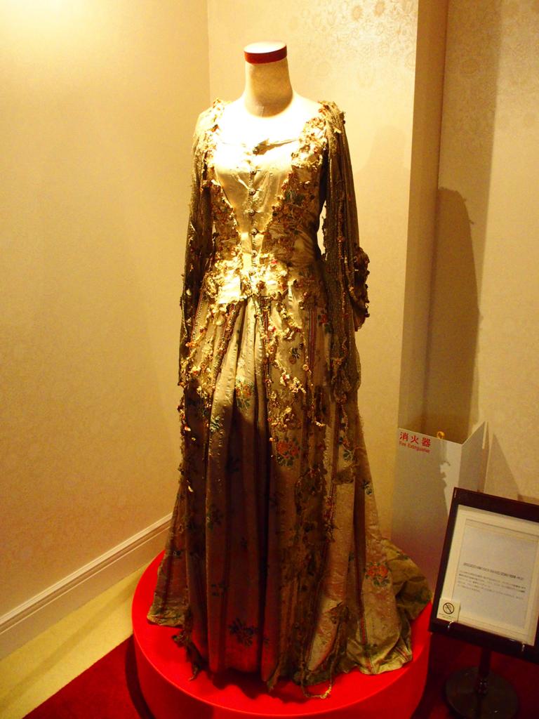 18世紀に着用されていた女性用ドレス-アイリス ボタンの博物館
